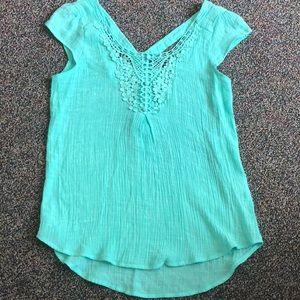 E hanger M Anthropologie blouse size small.